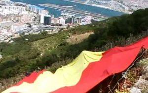 Minguez was arrested following reports of a large Spanish flag being displayed in an area near Signal Station Road, on the western side of the Upper Rock.
