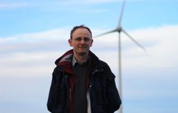 MLA Michael Poole visited the Sand Bay Wind Farm last week to discuss the benefits of renewable energy.