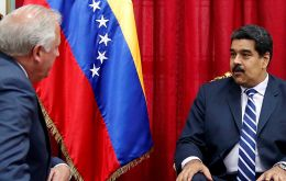 US envoy Shannon and Maduro, met after lunch in the Miraflores presidential palace in Caracas.