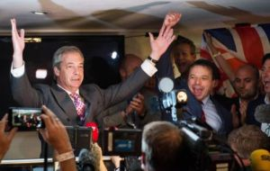 "UKIP leader Nigel Farage hailed it as the UK's ""independence day"" but the Remain camp called it a ""catastrophe""."