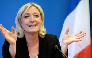 "France's National Front leader Marine Le Pen tweeted ""Victory for freedom"" and said the French must now also have the right to choose."