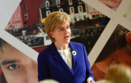 "In Edinburgh, Ms Sturgeon said: ""It is, therefore, a statement of the obvious that a second referendum must be on the table, and it is on the table."""
