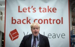 "The Secretary of State said most who voted for ""Leave"" don't know the next step,  apparently referring to campaigners such as ex-London mayor Boris Johnson"