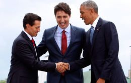 Presidents Peña Nieto,Canadian PM Justin Trudeau and Obama finalized their reconciliation with the first North American leaders' summit since 2014