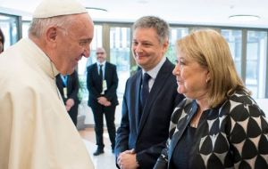 "Francis said he has received several of Macri ministers, including Susana Malcorra: ""can't see how an electronics engineer has managed to have such a political wit!"""
