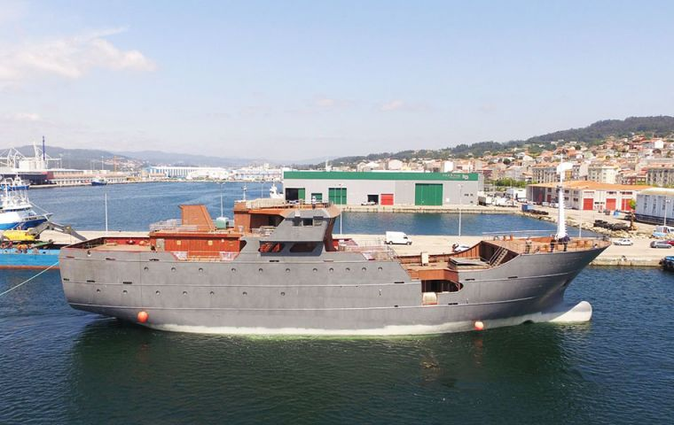 Built to CFL's specification by Nodosa Shipyard, in Marín, Galicia, the CFL Hunter will be fitted out in the next six months