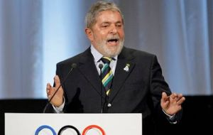 As president from 2003 to 2011, Lula campaigned to help Brazil win the 2014 World Cup and next month's Summer Olympics.