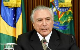 """The world needs to know who is the president"" of Brazil, interim president Michel Temer said."