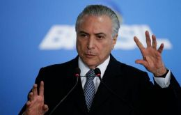 """This agreement will help growth and to create one of the main social rights, which is the right to work"", said Temer at the ceremony announcing the pact"