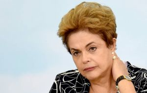 "Rousseff, who is accused of breaking budgetary laws, is staying away from the ceremony in Rio de Janeiro, saying she refuses to accept a ""secondary role."""