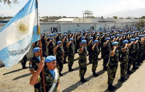 Ban Ki-moon thanked Argentina for its commitment to UN peacekeeping missions, especially those in Cyprus and Haiti