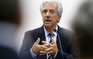 However reaching the treaty with Chile will not be very smooth since president Tabare Vazquez faces strong resistance from organized labor