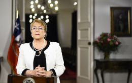 """Too many people receive too low pensions and are left to their own luck,"" said Bachelet. ""Pensions are a right and they must be shared responsibility."""