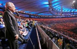 Temer's only appearance was at the end of ceremony, when he declared the Games open, and reactions were as bad as expected: he was booed during his entire speech
