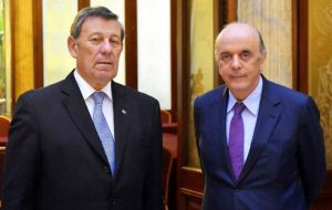 Foreign minister Serra visited Montevideo in early July to try and convince Uruguay not to turn in the rotating pro tempore presidency, but to no avail.