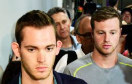 "US Olympic Committee CEO said Gunnar Bentz and Jack Conger, who had been with Ryan Lochte in an incident at a local gas station ""have recently departed Rio."""