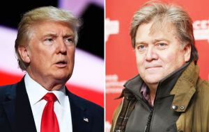 Trump named Steve Bannon, from Breitbart News website, as campaign CEO. He also promoted senior adviser Kellyanne Conway to campaign manager.