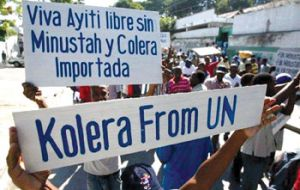 "Mr. Alston wrote that the United Nations' Haiti cholera policy ""is morally unconscionable, legally indefensible and politically self-defeating."""