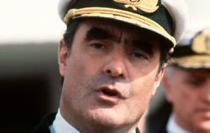 However ex Junta member Admiral Emilio Massera torpedoed any talks because he was intent in going ahead with the Falklands' invasion