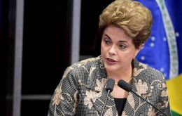 """Don't expect from me the obliging silence of cowards,"" Ms. Rousseff said in a withering attack on her opponents at the start of her testimony. (Pic AFP)"