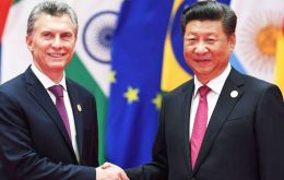 President Macri held a half hour meeting on Saturday with his host Xi Jinping to confirm bilateral trade and investments