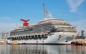 The one billion-dollar 130.000 tons Carnival Vista is the cruise liner's newest ship, launched last May first