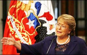 """We we have been able to transform a tragedy like the one we had to live 43 years ago into a victory of democracy, a defeat of death in hands of life,"" said Bachelet"