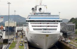 Cruise ship Coral Princess is slated to transit the Panama Canal on a voyage from Los Angeles, to the U.S. East Coast on October 4, 2016
