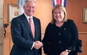 Sir Alan Duncan with minister Malcorra