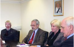 MLAs Gavin Short, Barry Elsby, Phyl Rendell and Mike Summers address questions from the media this morning.