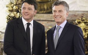 The Argentine president has scheduled meetings with Italy's Renzi; ex president Bill Clinton; Brazil's Temer and London mayor Sadik Khan, among others.