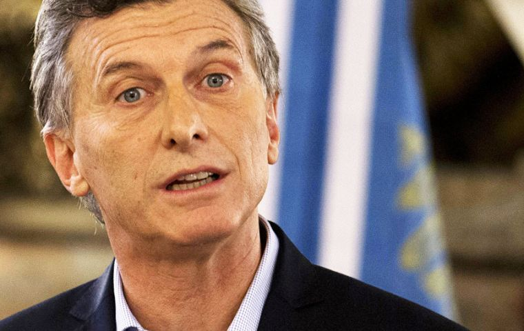 "Macri is scheduled to address the General Assembly on Tuesday but has a full agenda of political and financial interviews as part of ""new Argentina policy"""