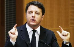 """I don't think it would be right for Italy to pretend not to notice when things are not getting any better,"" Renzi told a conference in Florence"