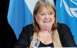 "The bilateral agenda is ample and includes Falklands/Malvinas sovereignty, ""which for us is a priority"", said foreign minister Susana Malcorra"