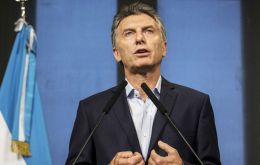 The Argentine economy is showing the first signs of exiting recession, Macri said at a business forum for international investors last week.
