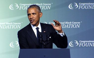 """There's no such thing as a vote that doesn't matter. It all matters,"" Obama told the crowd at the event hosted by the Congressional Black Caucus Foundation."