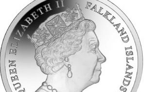 The coins are struck in gold and silver and are produced by the Pobjoy Mint on behalf of the Falklands government and treasury.