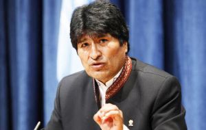 Malvinas must be solved because colonial times are long over and they must return to Argentina and Latin America, said president Evo Morales