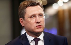 """There is a move forward, but they (OPEC) haven't got to the finish,"" Russian Energy Minister Alexander Novak said after meeting Falih and Zanganeh."