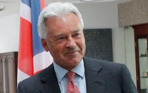 "The Argentine/UK joint statement, when the visit of Foreign Secretary minister for the Latin America, Alan Duncan, ""is not an agreement or an international treaty""."