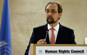 """I promise that we, the UN human rights office, as foreseen in the text, will follow the progress of the numerous human rights aspects of the peace accords closely""."