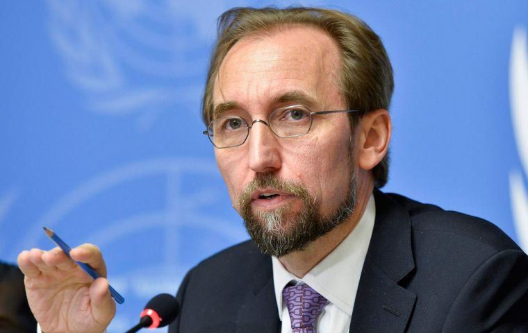 "Zeid paid tribute to the Government of Colombia […] ""for having the foresight to invite, and then accept and retain, the presence of a UN human rights office"""