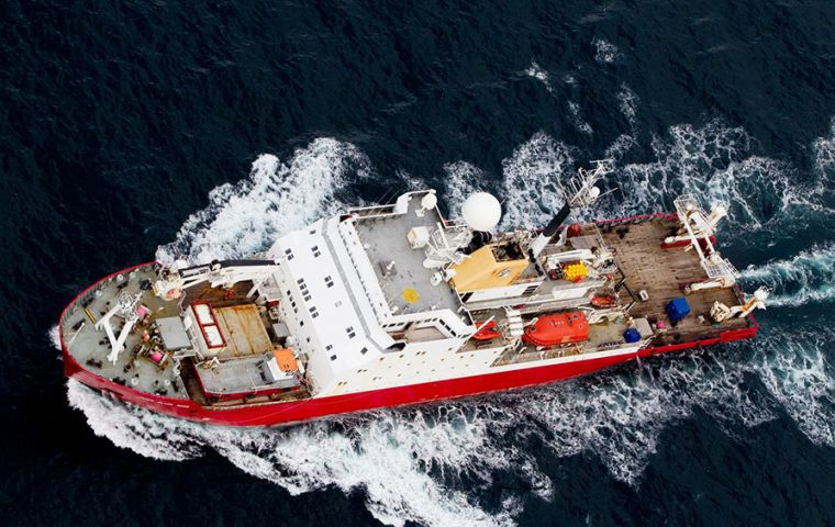 As the ship slowly navigates its way following the contour of the Mid-Atlantic Ridge, data is being continually collected