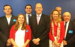 MEP Ashley Fox with members of the Gibraltar/Spain Cross Frontier Group (CFG) in Brussels