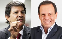 In Sao Paulo PT mayor, Fernando Haddad, was ousted by Joao Doria, of the centrist PSDB, who obtained some 53% of the vote.