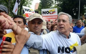 """Peace is exciting, but the Havana accords are disappointing,"" said the leader of the 'No' campaign, former president Alvaro Uribe."