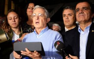 Former president and senator Álvaro Uribe, who led the campaign against the accord, did not even attend the emergency meeting, nor did the leaders of his party.