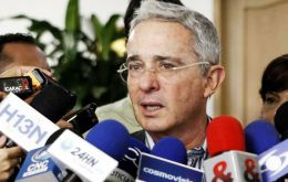 """It's better to achieve peace for all Colombians than a weak accord for half the nation's citizens,"" senator Uribe told journalists after the meeting."