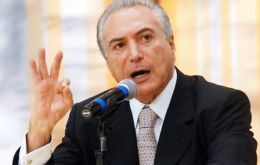 Temer hopes the proposal, which would limit growth in spending to the rate of inflation for up to 20 years, will eventually clear the two Houses