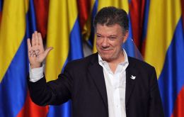 """This is a great, great recognition for my country,"" Juan Manuel Santos said in an audio interview posted on the Facebook account of the Nobel Prize."